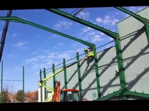 C lculo de estructuras met licas montaje de p rtico met lico youtube - Fotos de estructuras metalicas ...
