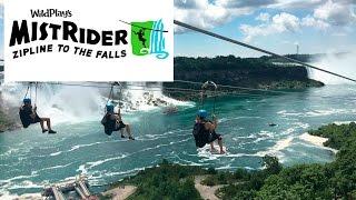 New Niagara Falls Zipline Ride Canada First Person Video!