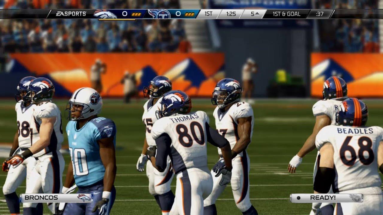 7aa63129 NFL 2013 Week 14 - Tennessee Titans vs Denver Broncos - 1st Qrt - Madden 25  PS4 - HD