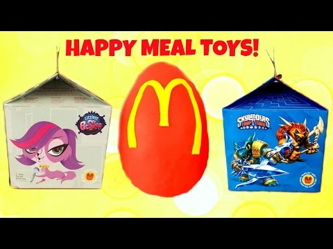 McDonald's Happy Meal Play Doh Surprise Egg Littlest Pet Shop & Skylanders Toys!