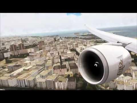 FSX 60 FPS  - PMDG 777 - DUBAI