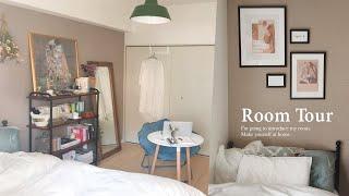 【ルームツアー】パリのアパルトマン風を目指すアンティーク一人暮らし部屋・推しのオタクグッズも自作しておしゃれインテリアにする方法|ドレッサー|japanese room tour