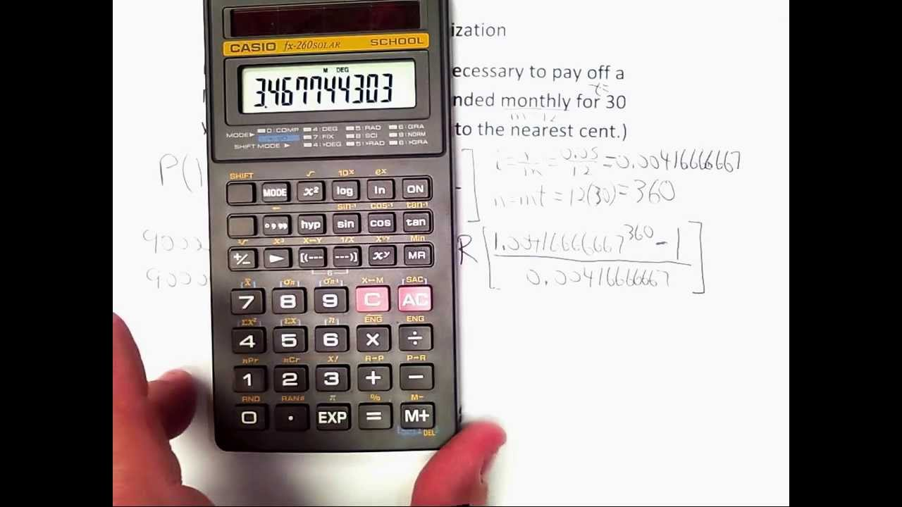 01 calculating monthly payments amortization schedules youtube