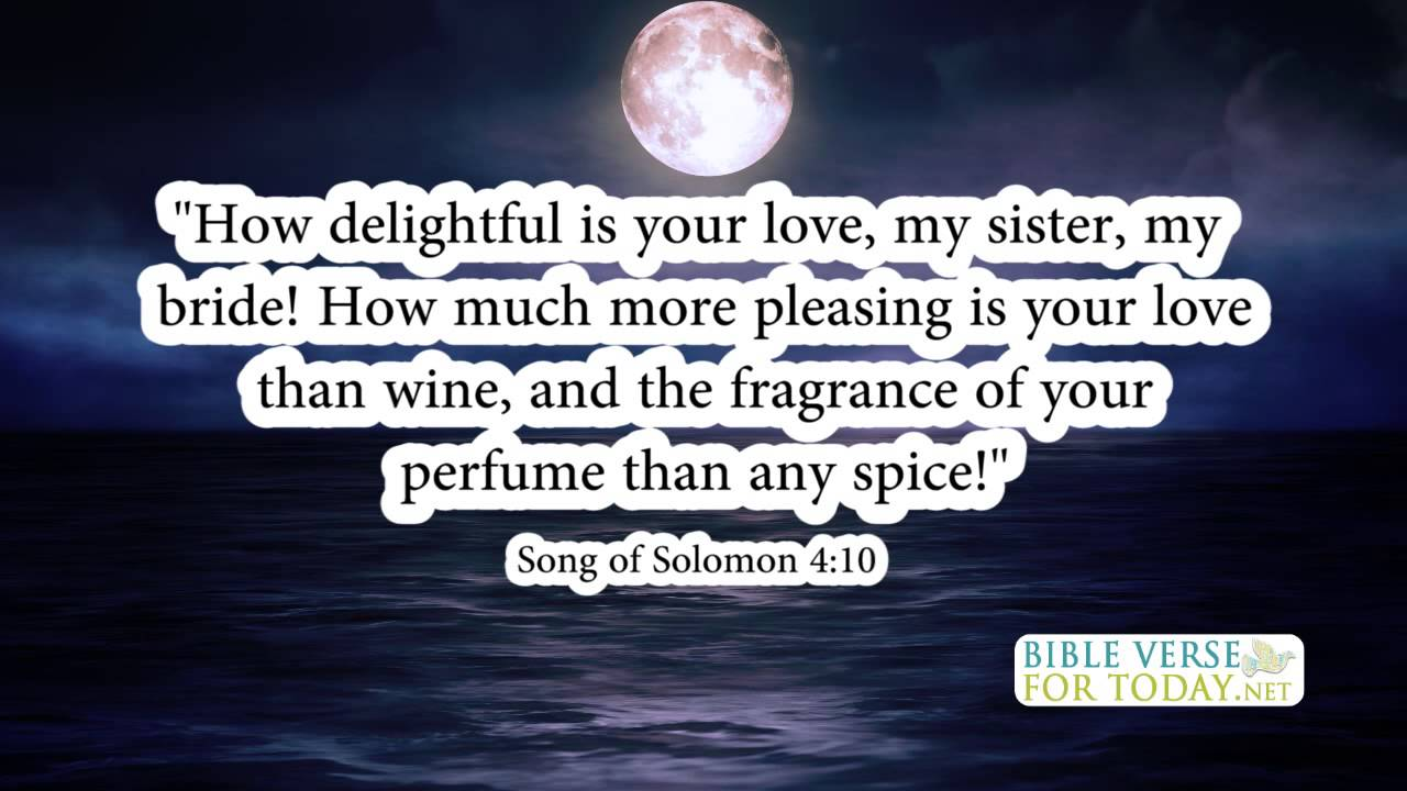Wedding Bible Verses Song Of Solomon 4:10 | Bible Verse | (Daily For Quotes  On Love)   YouTube
