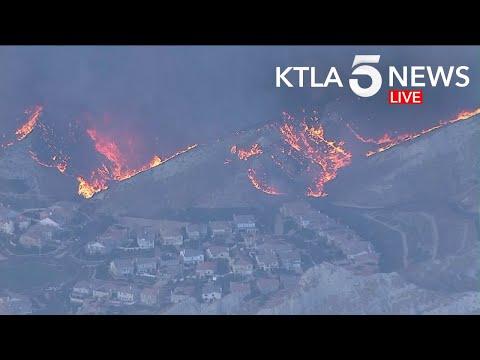 Tick Fire Explodes In Agua Dulce Area