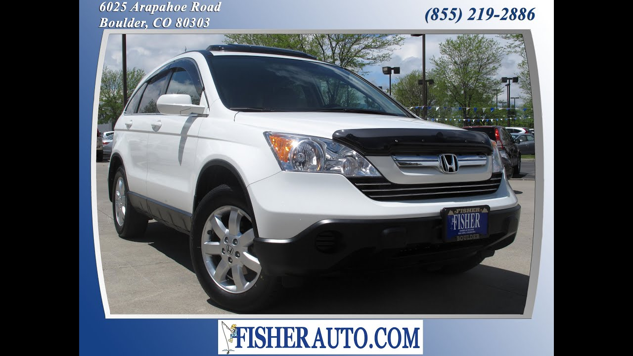 2008 honda crv exl white 18 900 boulder colorado fisher auto stock pc6774 youtube. Black Bedroom Furniture Sets. Home Design Ideas