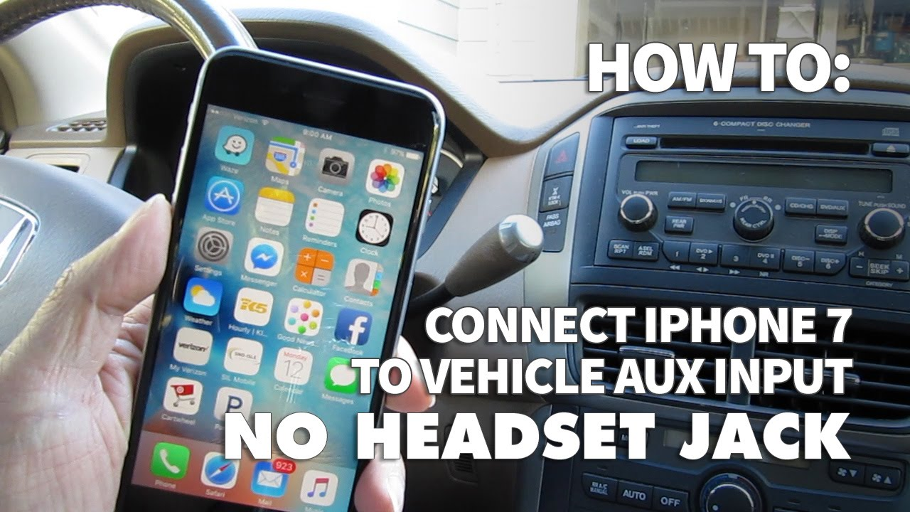 how to use iphone 7 with no headphone jack in your car. Black Bedroom Furniture Sets. Home Design Ideas