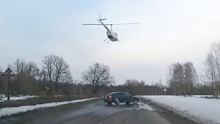 A Priest In A Helicopter Landed Right On The Road