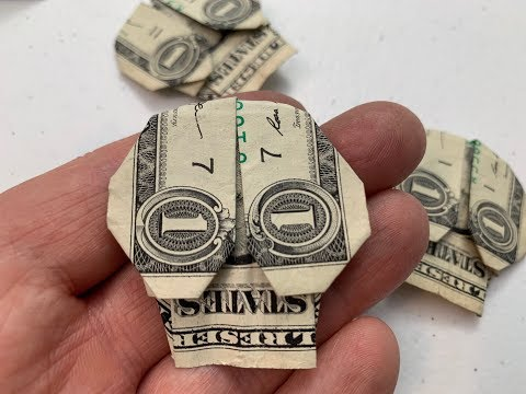 Dollar Origami: Fold A Skull From A Dollar Bill!