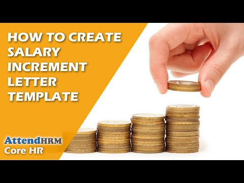 How To Create Salary Increment Letter Template