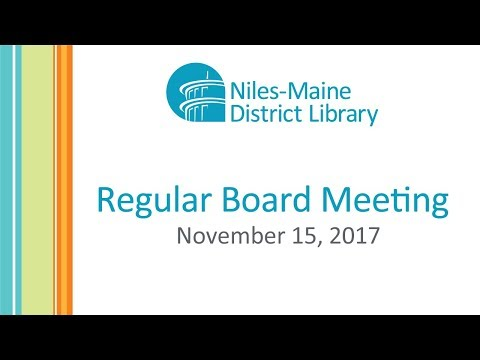 Regular Board Meeting - November 15, 2017