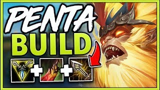 Download PENTA BUILD #1 REWORKED WUKONG WORLD INSANE NEW BUILD (PENTAKILL!!) - League of Legends Mp3 and Videos