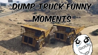 Gta 5 Online - HVY Dump Truck Funny moments