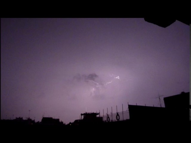 Nit de tempesta a Badalona - Setembre 2016
