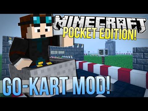 Minecraft Pocket Edition | GO KART MOD! | Mod Showcase