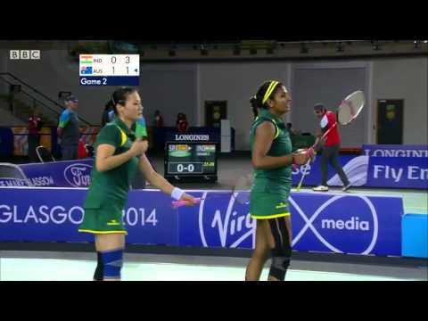 WD R16 - AUS vs IND - 2014 Commonwealth Games badminton