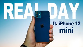 iPhone 12 mini - Real Day in The Life Review ! (Battery & Camera)