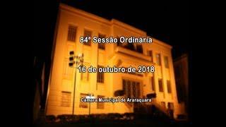 84ª Sessão Ordinária 16/10/2018