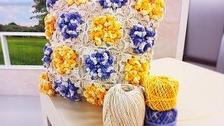 Marta Araújo – Almofada com Flores em Crochê