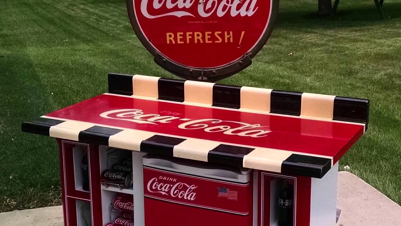 Home Decor Upcycle    TV Cabinet To Coca Cola Bar   YouTube