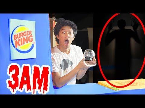 3AM Burger King BoxFort! Crystal Ball Do Not Try!