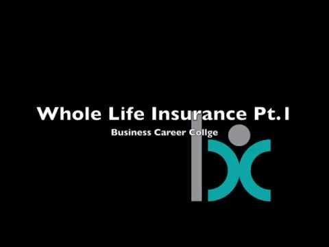 Whole Life Insurance Part 1