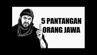 5 Pantangan Orang Jawa Yang TIDAK BOLEH DILANGGAR