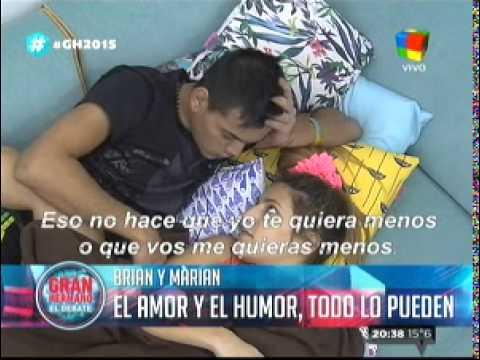 """""""Gran Hermano 2015"""": Marian a Brian: """"Te necesito siempre conmigo"""""""