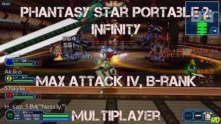 Phantasy Star Portable 2 Infinity ■ Maximum Attack Cross IV (B-Rank) Multiplayer PPSSPP HD