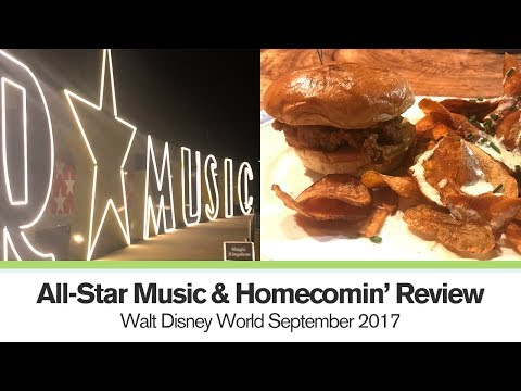 Checking in to AllStar Music, Homecomin Review  Day 1  Walt Disney World September 2017