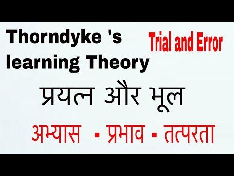 thorndyke 's Learning Theory
