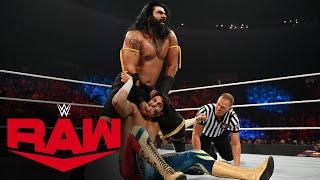 Jeff Hardy, Mansoor & Mustafa Ali vs. Jinder Mahal, Veer & Shanky: Raw, Sept. 27, 2021