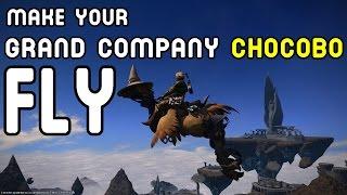 FFXIV Heavensward: Make Your Grand Company Chocobo Fly !!