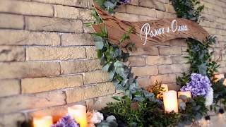 Красивый и простой декор на свадьбе Романа и Ольги в кафе Prime в Минске