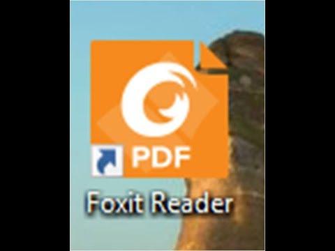 โปรแกรม foxit reader