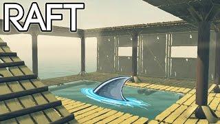 RAFT Survival Game German Gameplay - Neu mit Hai im Pool