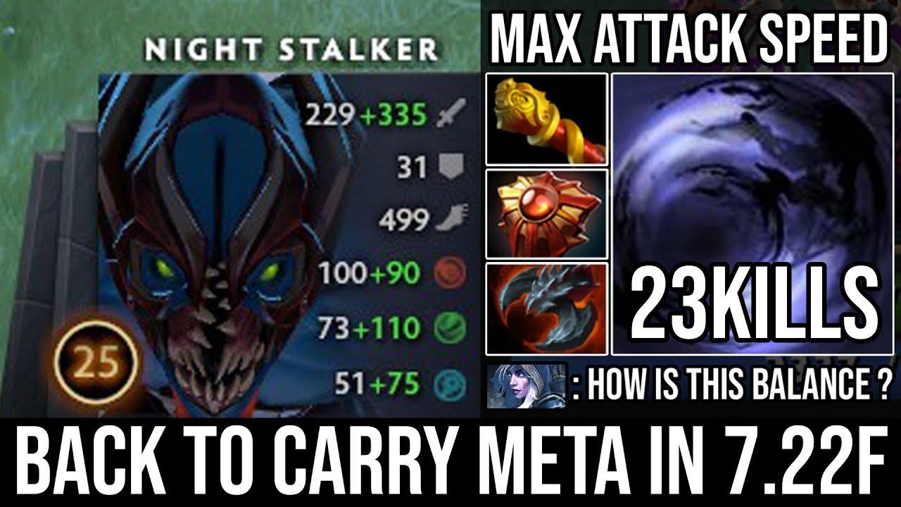 New Imba Carry Night Stalker Epic Pro Destroyed Offlane With 210 Lifesteal Satanic 23kills Dota 2 Youtube