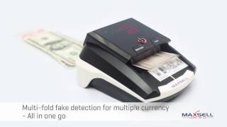 Forex Currency Detector from Maxsell India Detects - USD, Euro, GBP, choice of upto 30 Currency