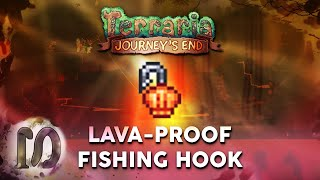 LAVAPROOF FISHING HOOK - Teŗraria 1.4 Journey's End - Lava Fishing Part 2 - How to fish in lava.
