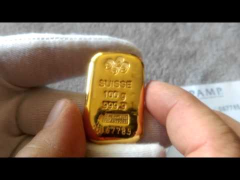 Fake Gold Warning Pamp Suisse Gold Bars With Tungsten