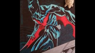 Dibujando a Batman Beyond (colaboración)/Drawing Batman Beyond.