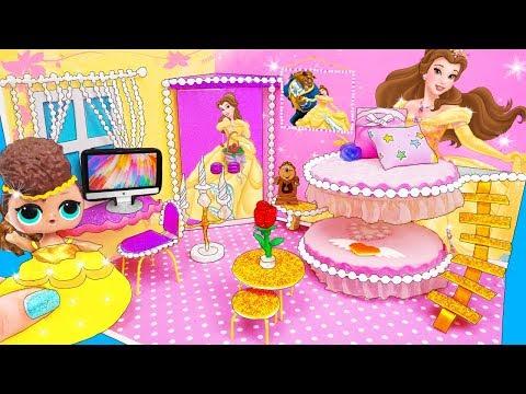 МИНИ Дом Семейки Белль Куклы ЛОЛ Сюрприз! Мультик Belle LOL Surprise Toy DIY Miniature Dollhouse
