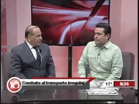 Entrevistas al Srio. de Transportes Fabian Estrada de Coss Noticias Canal 10