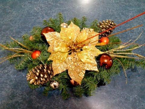 Cómo hacer un bonito centro de mesa navideño fácil