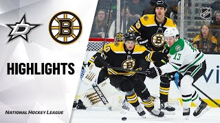 Nhl Highlights | Stars @ Bruins 2/27/20