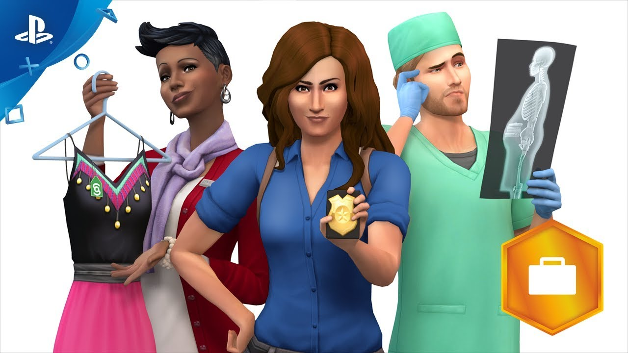 the sims 4 get to work official trailer ps4 youtube