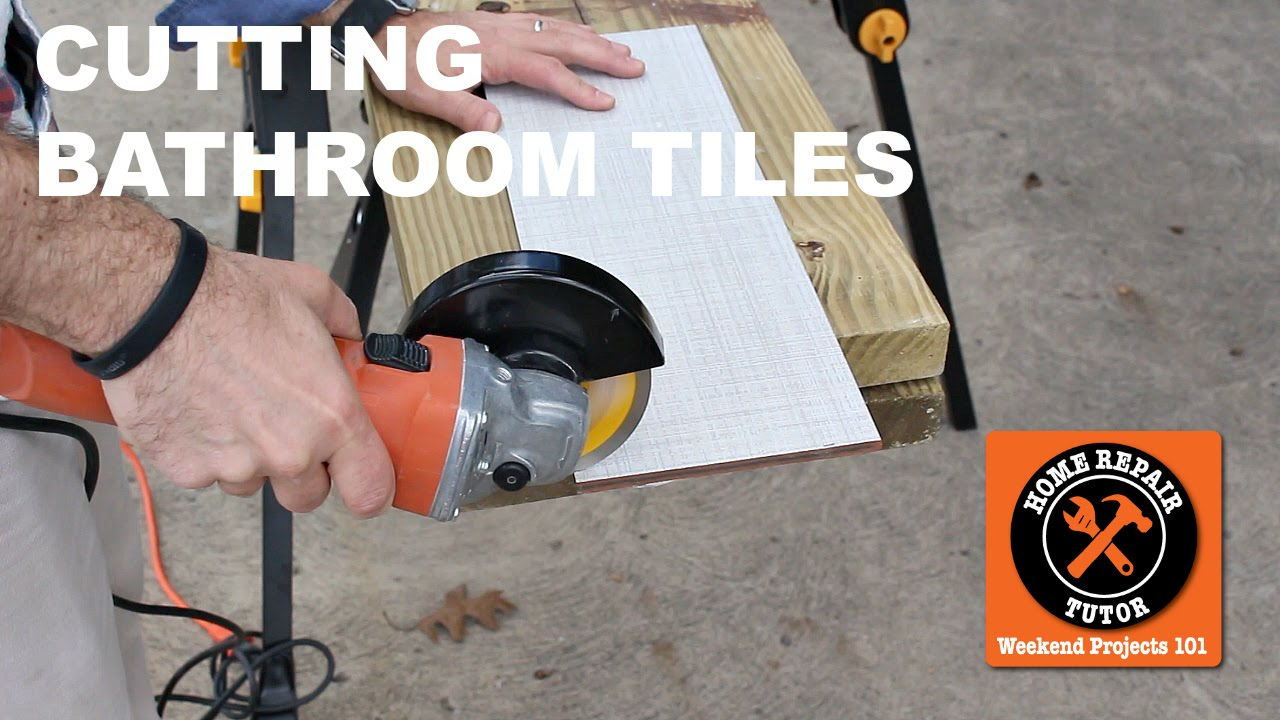 cutting bathroom tiles with an angle grinder quick tips by home repair tutor