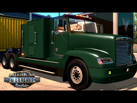 American Truck Simulator Freightliner FLD 120 Flat Top Car Parts 20.000lb San Diego to Oakland