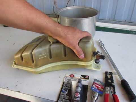 Como reparar una fuga de agua facil del dep sito de anti congelante de un auto youtube - Reparar filtraciones de agua ...
