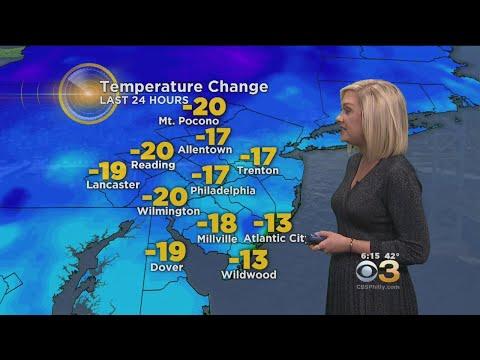 Philadelphia Weather: Cold and Quiet Tonight